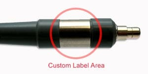 Custom label medical light guides